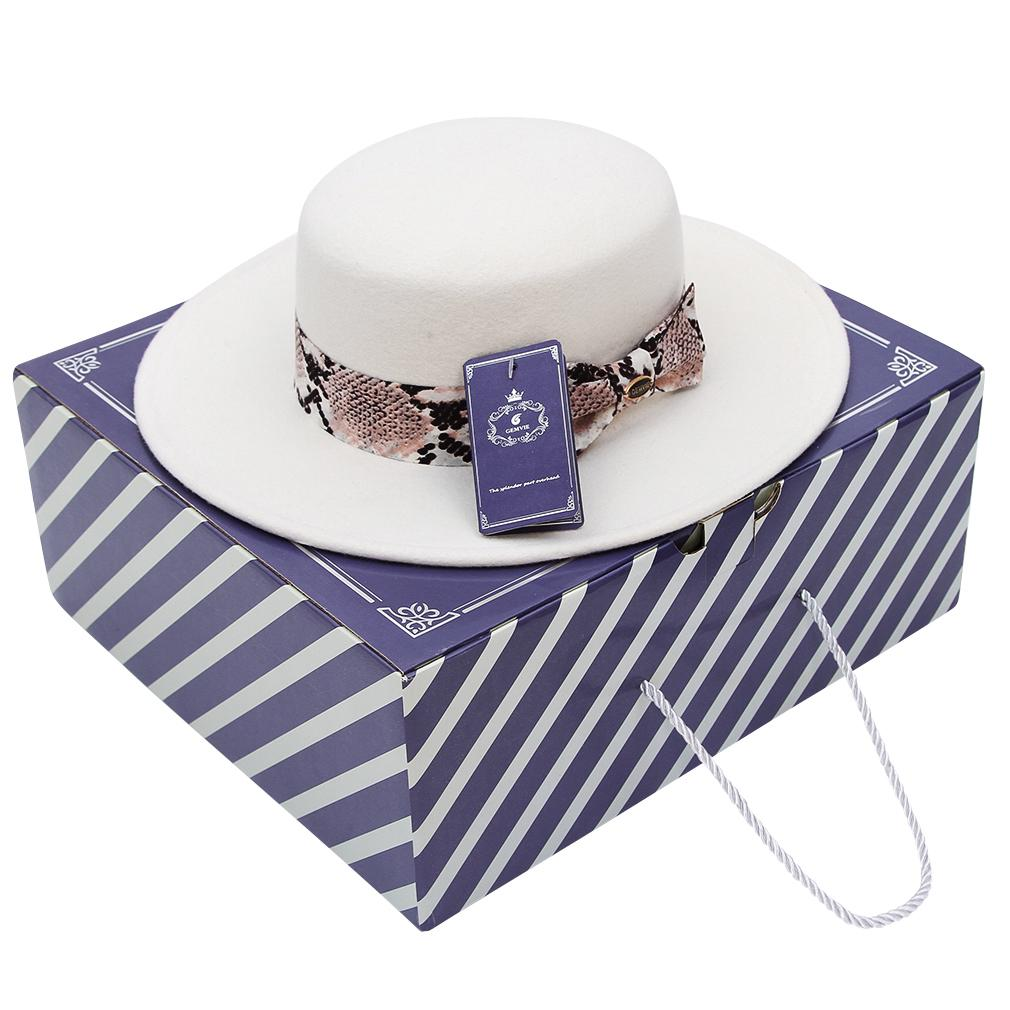 Frauen weicher Wollfilz Hut breiter Krempe Kappe Bowknot Hut Kappe