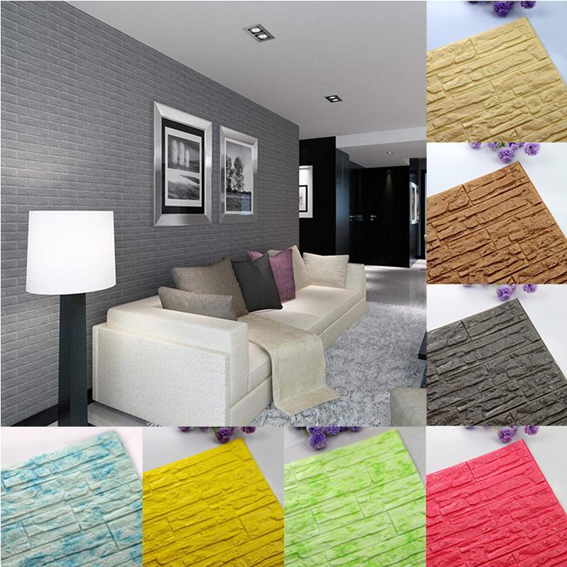 Diy 3d Brick Pe Foam Panels Room Decor Stone Decoration Embossed Wallpaper Buy At A Low Prices On Joom E Commerce Platform