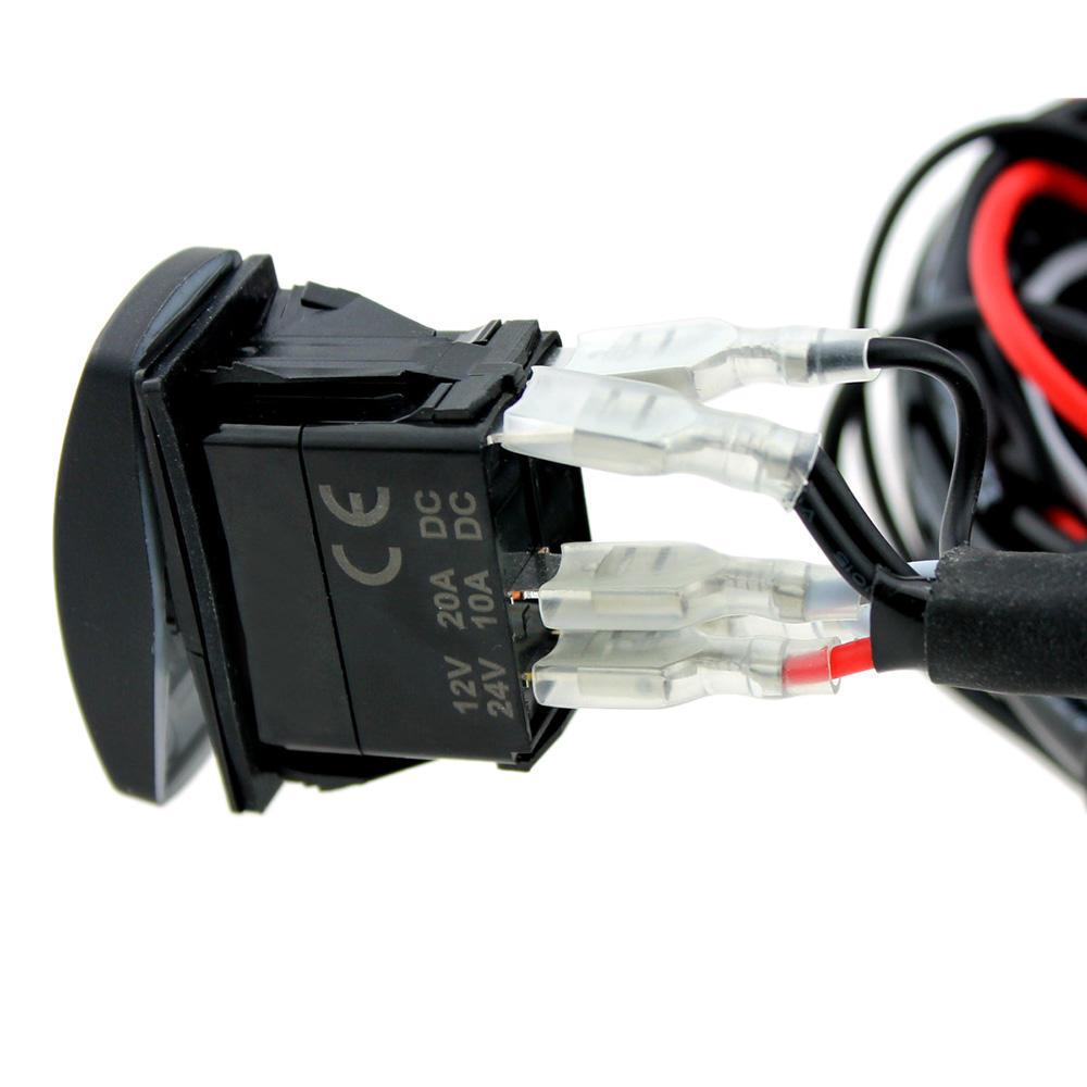 LED-Lichtleiste Rocker ein-/aus-Schalter mit Relais Wiring Harness ...