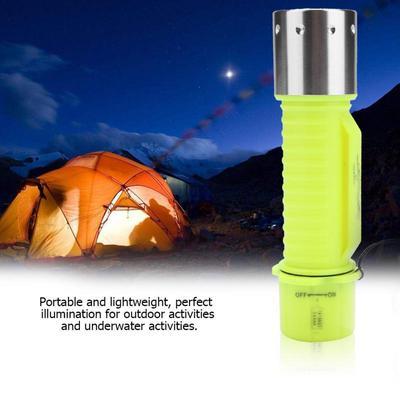 Portable LED Pocket Underwater Scuba Diving Flashlight Torch Projector Waterproo