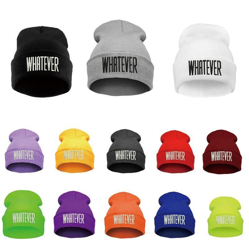 Sombrero de hip-hop cualquier Letras invierno gorros negro gacho ...