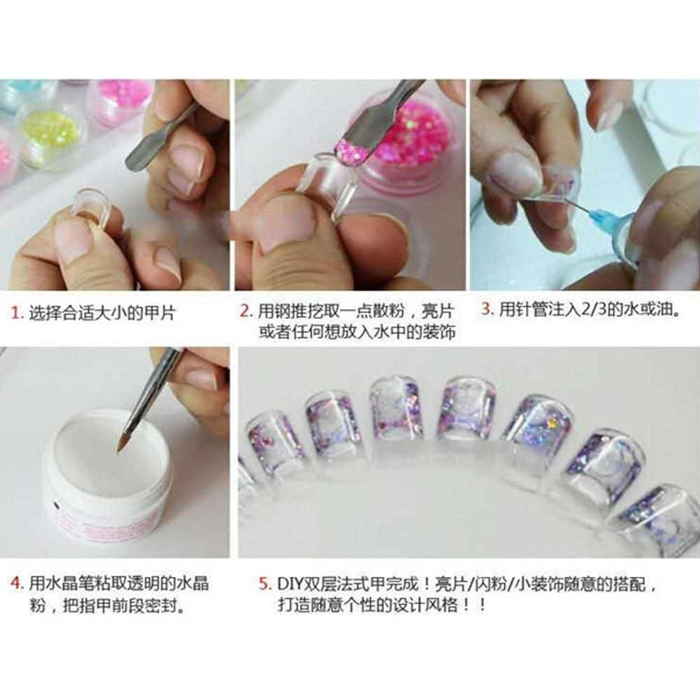 New Products Aquarium Nails Art Tips Clear Aquarium False Water ...