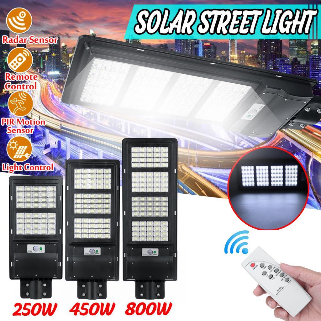 Solar Power 80//160//240//320LED Street Light Infrared Motion Sensor Outdoor Wall