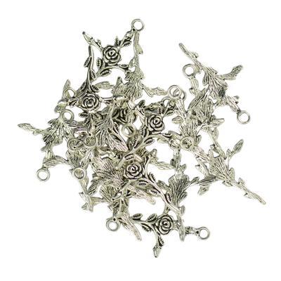 20Pcs Retro Tibetan Charms Mixed Shape Pendants Craft Jewelry Findings