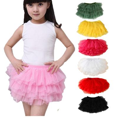 Kids Girls Stars Glitter Tutu Skirt Multicolour Costume Ballet Dance Tulle Dress