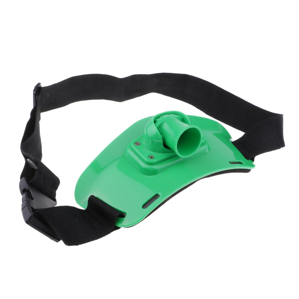 Adjust Fighting Belt Standup Offshore Fishing Rod Holder Waist Support Green