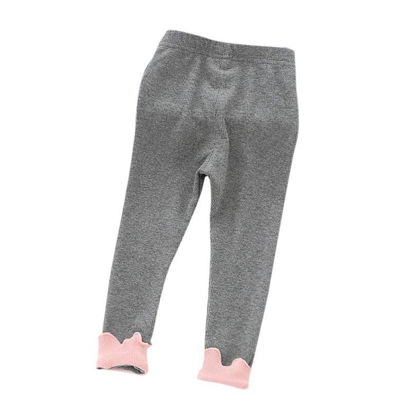 a6616671a Polainas de tobillo niñas patchwork floral pantalones calientes de algodón