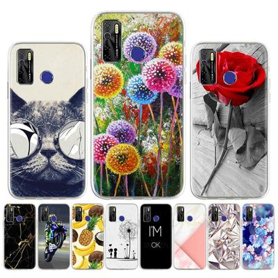 Soft Silicone Case for Tecno Camon 12 15 Pro 16 Premier Spark 5 Case Tecno Spark 4 Lite 5 6 Air GO 2020 Cover Painted Patterned Phone Bumper