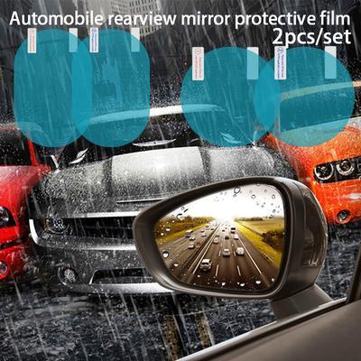2 Unids//set Coche Protector contra la Lluvia de Goma Flexible espejo retrovisor Lluvia Sombra Guardia de Agua Cubierta Del Bloqueador de La Ducha Sombrilla Sombra