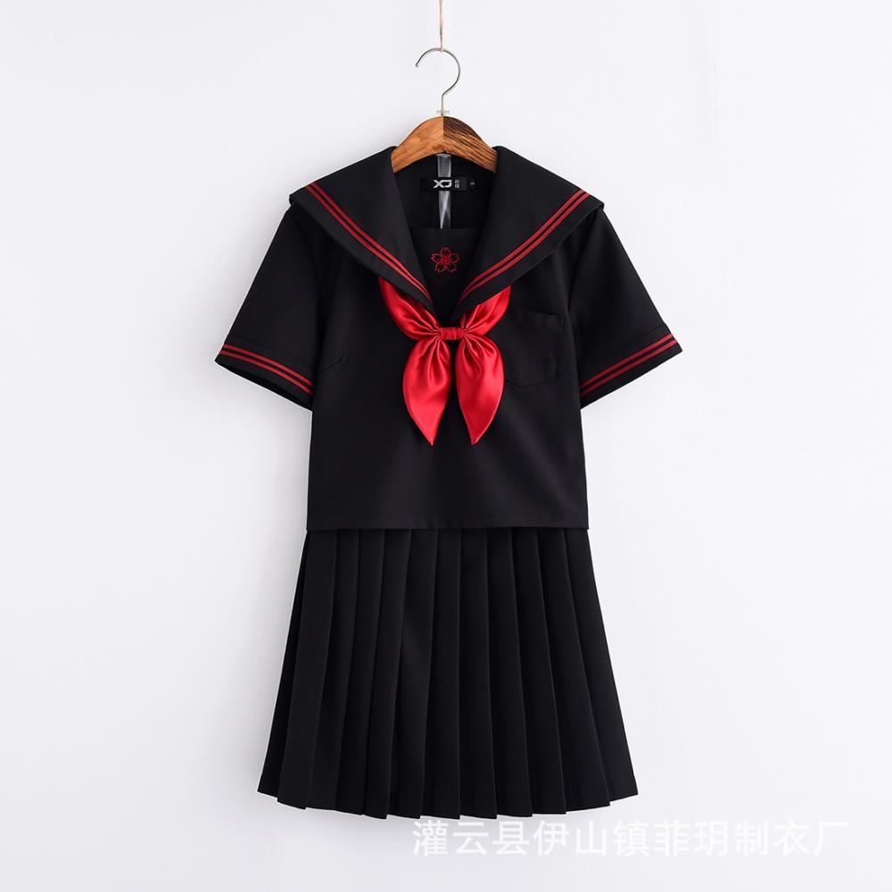 89413475b4411 Черный Sexy Girl костюм женщины Сексуальное белье школьниц косплей ...
