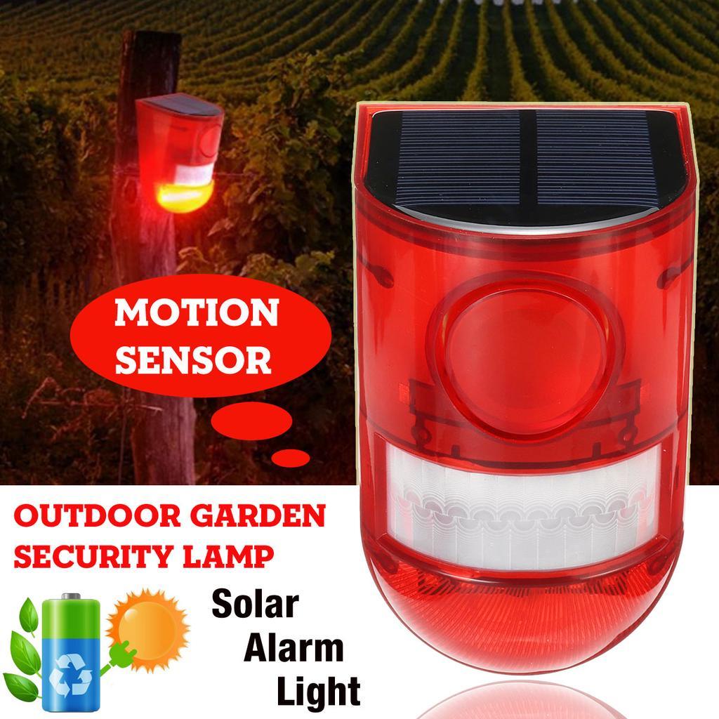 1 2 4x Solar Alarm Light Wireless, Motion Detector Alarm Outdoor Wireless