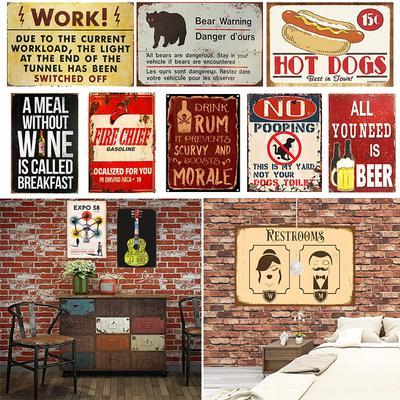 SUMIK Flag Girls Metal Tin Sign Vintage Art Plate Plaque Man Cave Bedroom Home Wall Decor