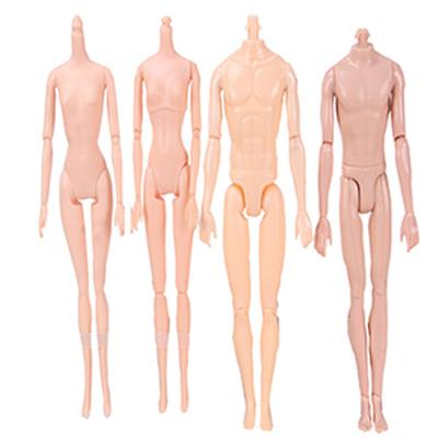 2Pcs Nude Body Joint Doll With Carnatio Skin Toy Movable For 29cm Doll