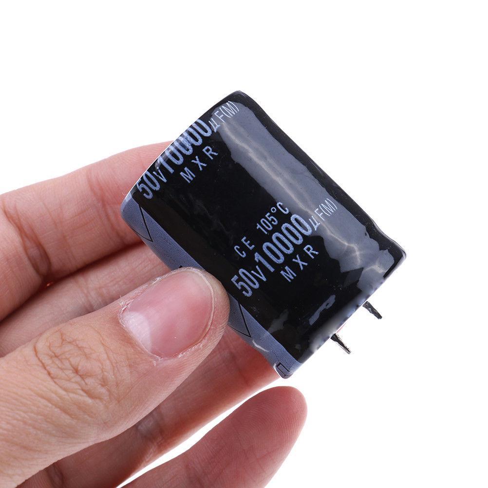 2pcs 10000uf 50v 10000mfd 105c aluminum electrolytic capacitor 30×50mm