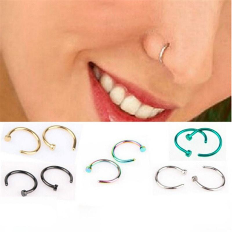 Stylish Nose Ring Surgical Body Jewelry Piercing Hypoallergenic