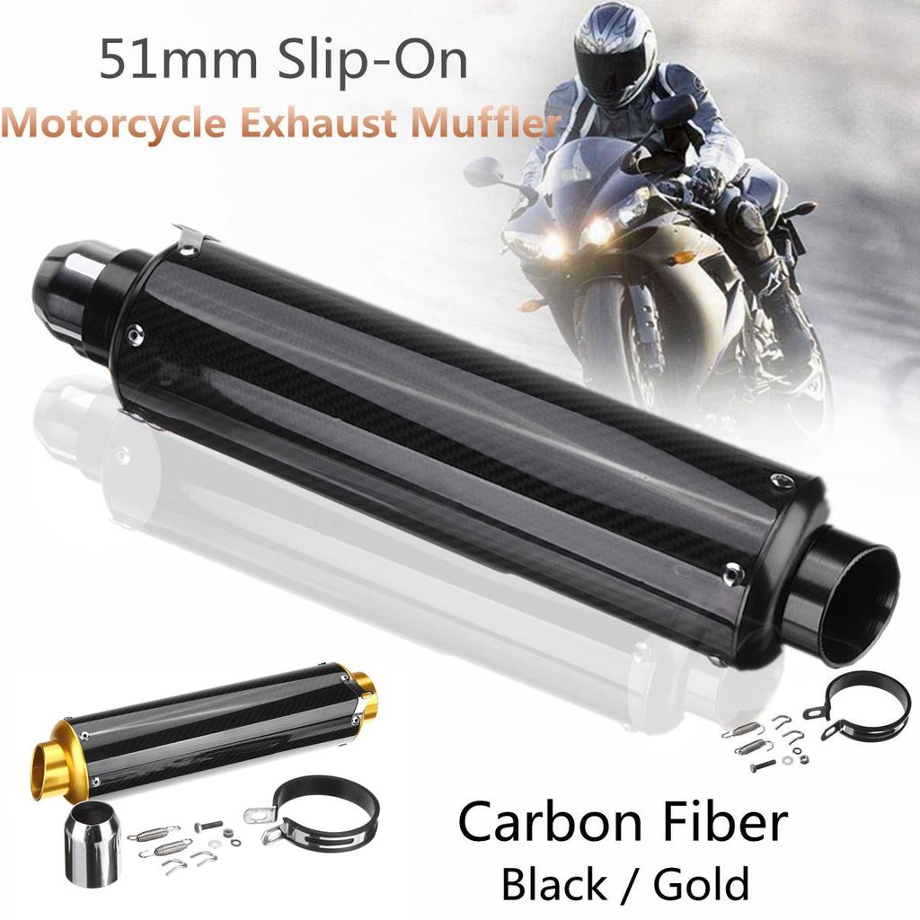 Universal Carbon Fiber motorcycle Muffler  for 125CC-1200CC motorcycles Scooters