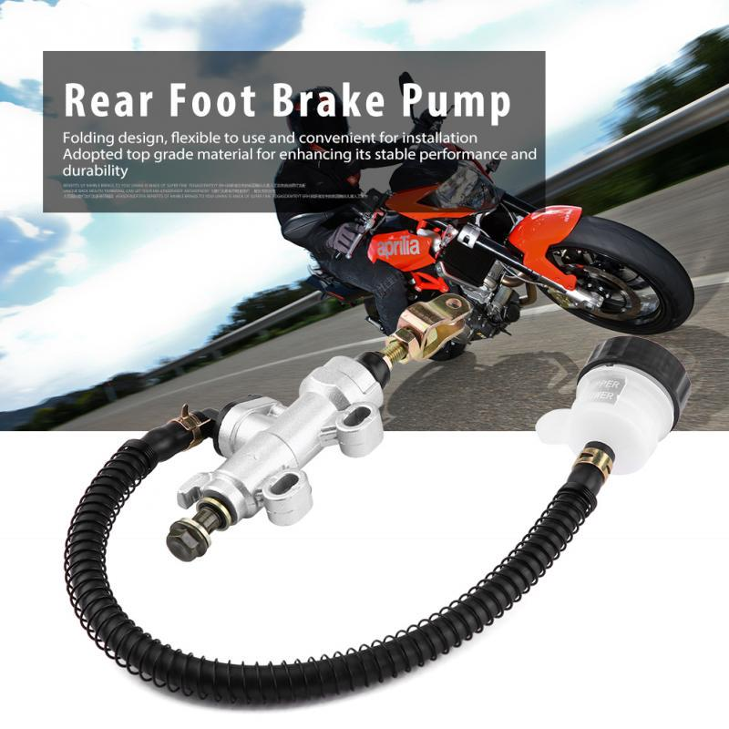 Motorcycle Rear Brake Pump Master Cylinder Universal Hydraulic Pump with Reservoir for Motorcycle Dirt Bike ATV