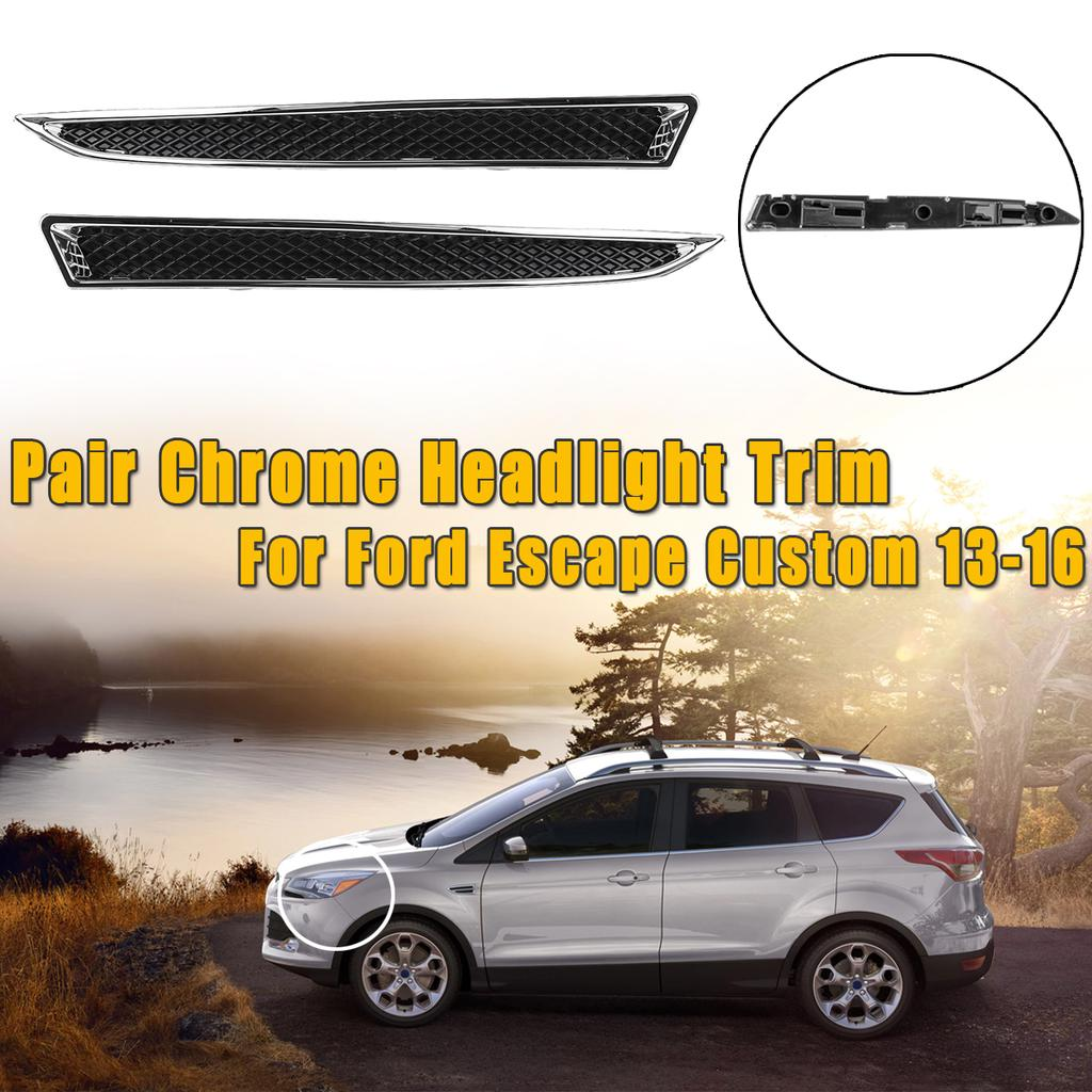 Yp Chrome Rearview Mirror Side Molding Cover Trim For Ford Kuga Escape 2013-18
