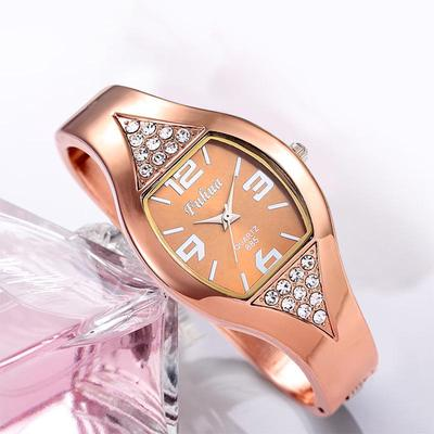 Women Golden Watch Fashion Watches Stainless Steel Stylish Wristwatch