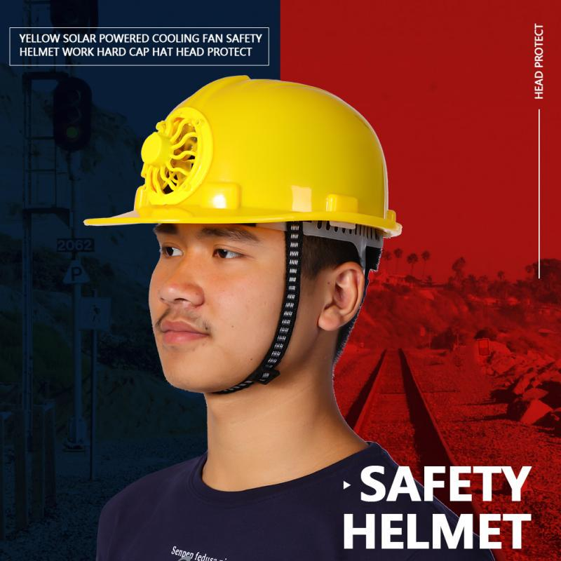 Cool Construction Hard Hat Adjustbale Safety Helmet with Solar Powered  Cooling Fan