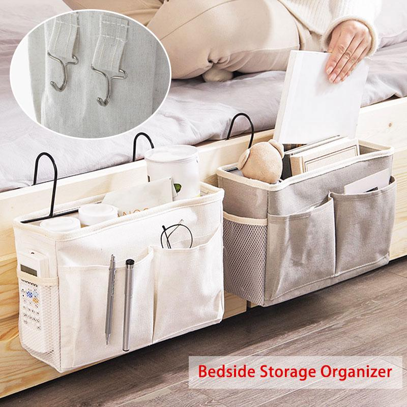 Bedside Caddy Hanging Storage Bed Holder Couch Organizer Container Bag Pocket