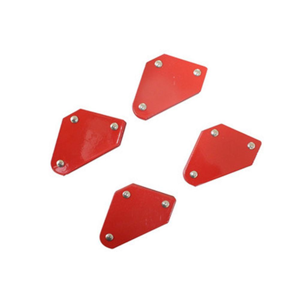 4PCS Welding Magnet Magnetic Square Welder Holder Arrow Clamp 45° 90° 135°