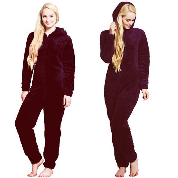 Women 2 Piece Sleepwear Long Sleeve Hooded Pullover Hoodie Pajamas Long W2YN 01