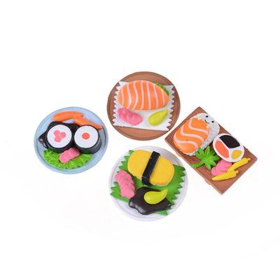 Sushi Bento Lunch For Miniature Dollhouse Handmade Food Home Kitchen Decor  OJ