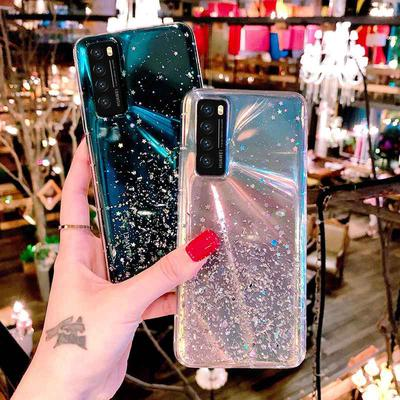 Luxury Star Glitter Quicksand Case For Huawei P Smart Y6S Y5P Y6P Y7P P40 Lite E Honor 30S 10i 9A 20e 20 Lite 10 I 20S 9C 9S View 30 Honor 8A Prime 8S