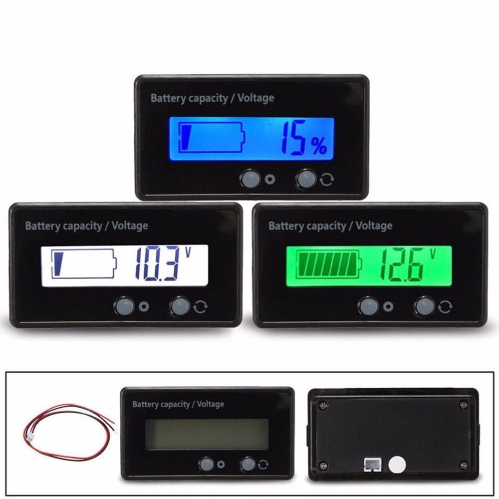 12V-48V LCD Anzeige Autobatterie Kapazität Tester Bleisäure Monitor 12uA