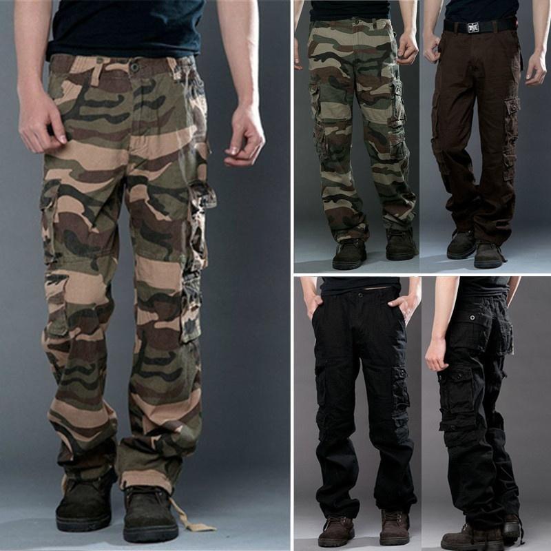 Casual Bfgyv76y Hommes Pantalon Cargo Militaire Camouflage Armée wmvON8n0