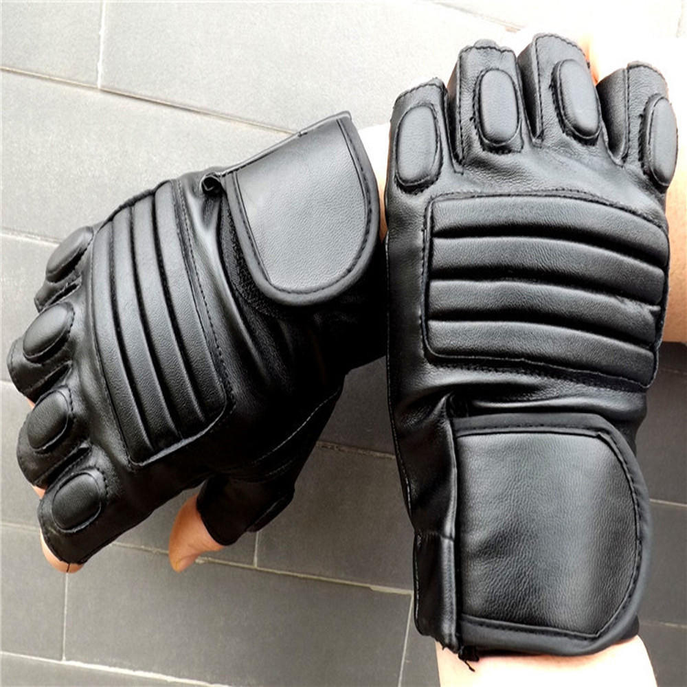 Winter Motorcycle Gloves >> Fashion Fashion Men Winter Leather Motorcycle Sports Outdoor Protection Fighting Gloves-buy at a ...