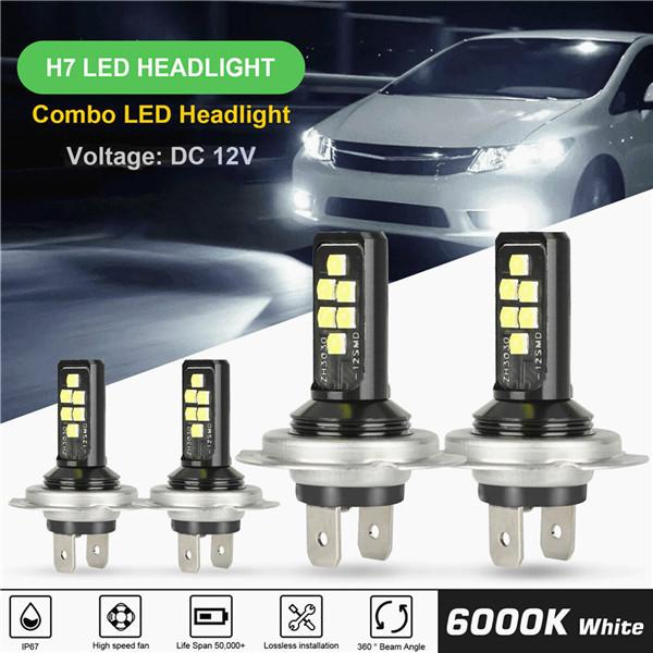 Car H7 H4combo Led Headlight Kit Bulbs High Low Beam 240w 52000lm 6000k Kit Buy At A Low Prices On Joom E Commerce Platform