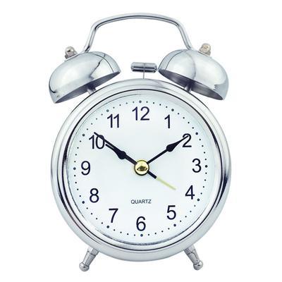 Retro Double Bell Mechanical Keywound Alarm Clock with Nightlight Super Loud