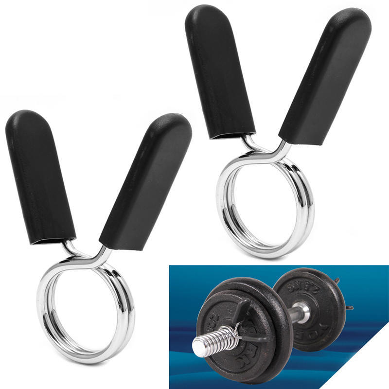 2PCS STANDARD BARBELL GYM WEIGHT BAR DUMBBELL LOCK CLAMP SPRING COLLAR CLIPS