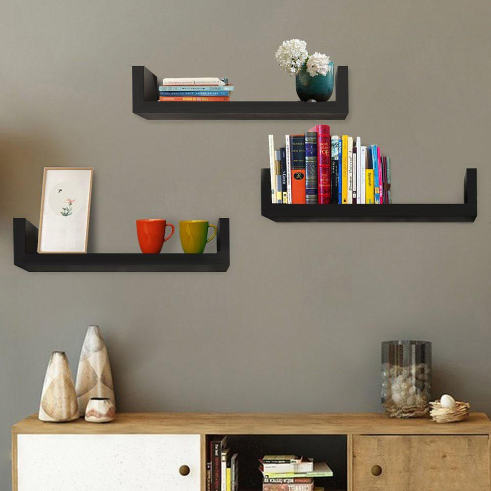 3Pcs Shelf Display Floating Nesting Wall Decorative Mount Ledge Storage New