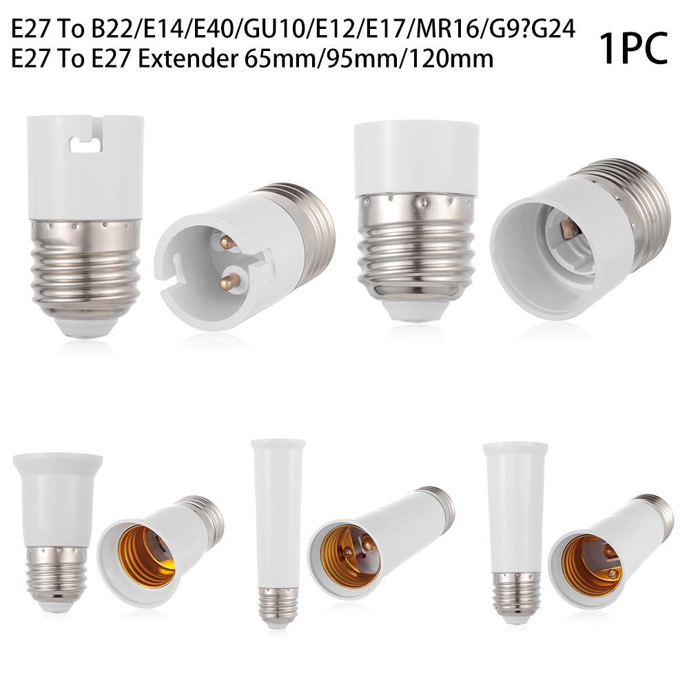 E27 E14 E27 G24 to B22 E12 Socket Base LED Lamp CFL Light Bulb Adapter Converter
