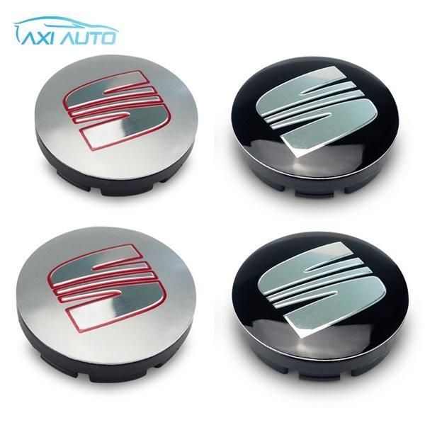 4pcs 565mm Car Badge Seat Wheel Center Hub Caps Emblem For Seat