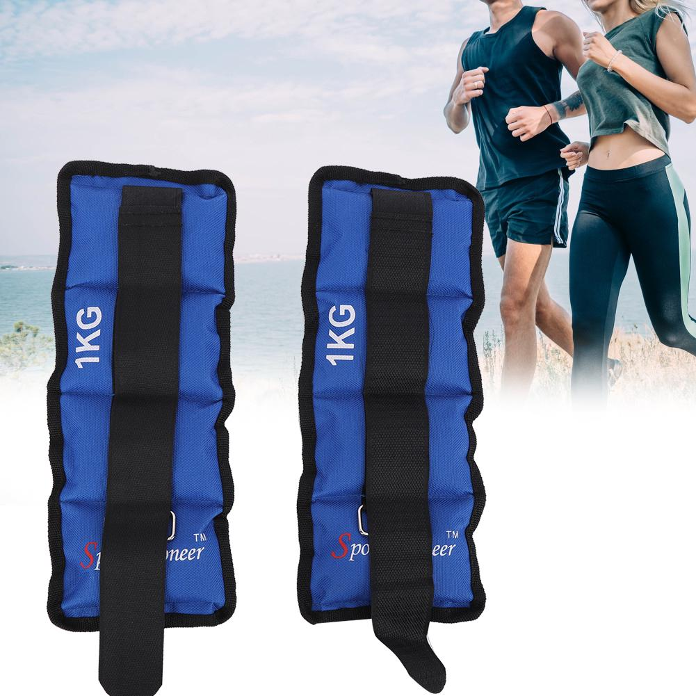 2X Adjustable Ankle Wrist Weights For Training Fitness Running Legs Exercise