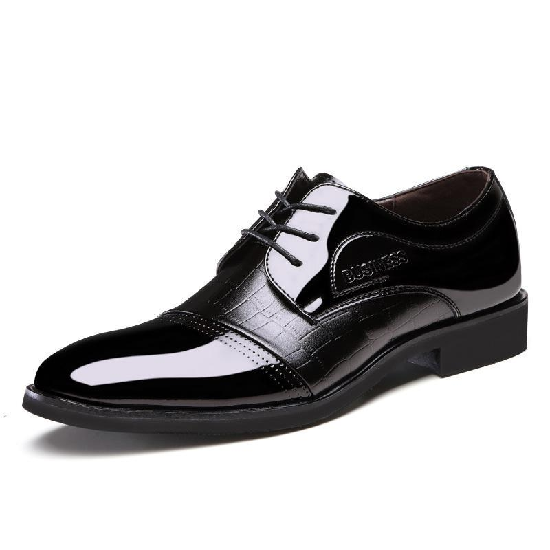 MENS BROGUE OFFICE CASUAL LEATHER JAZZ SPAT PARTY SHOE BLACK BROWN 7-11 8J-1