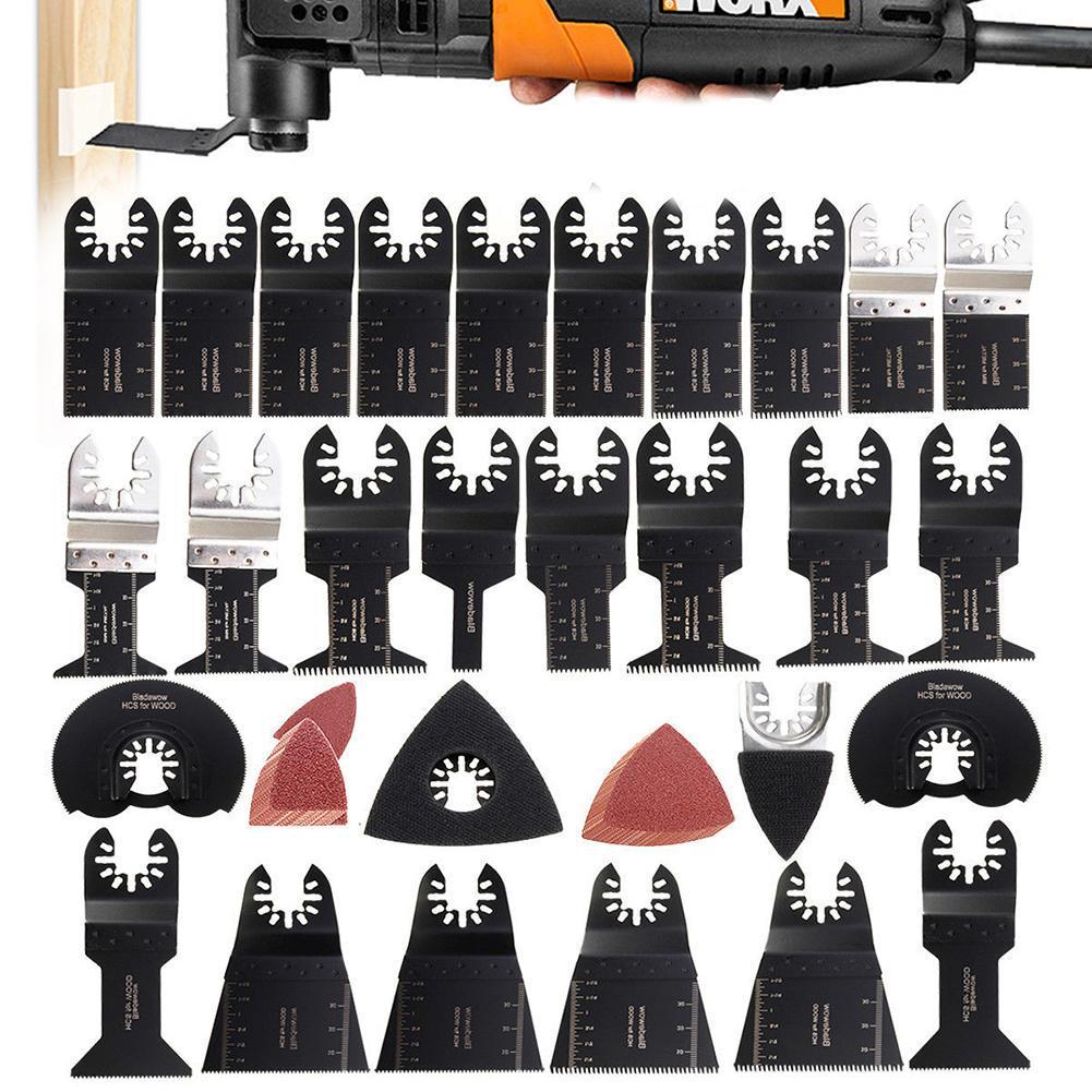 10pc 65 mm Oscillant Multi Outils Scie Lames Set Carbide Bois Pour Dewalt Makita