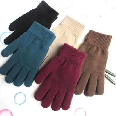 1 Pair Outdoor Unisex Winter Warm Full Finger Gloves Thickened Accessories Knitted Gloves Mittens