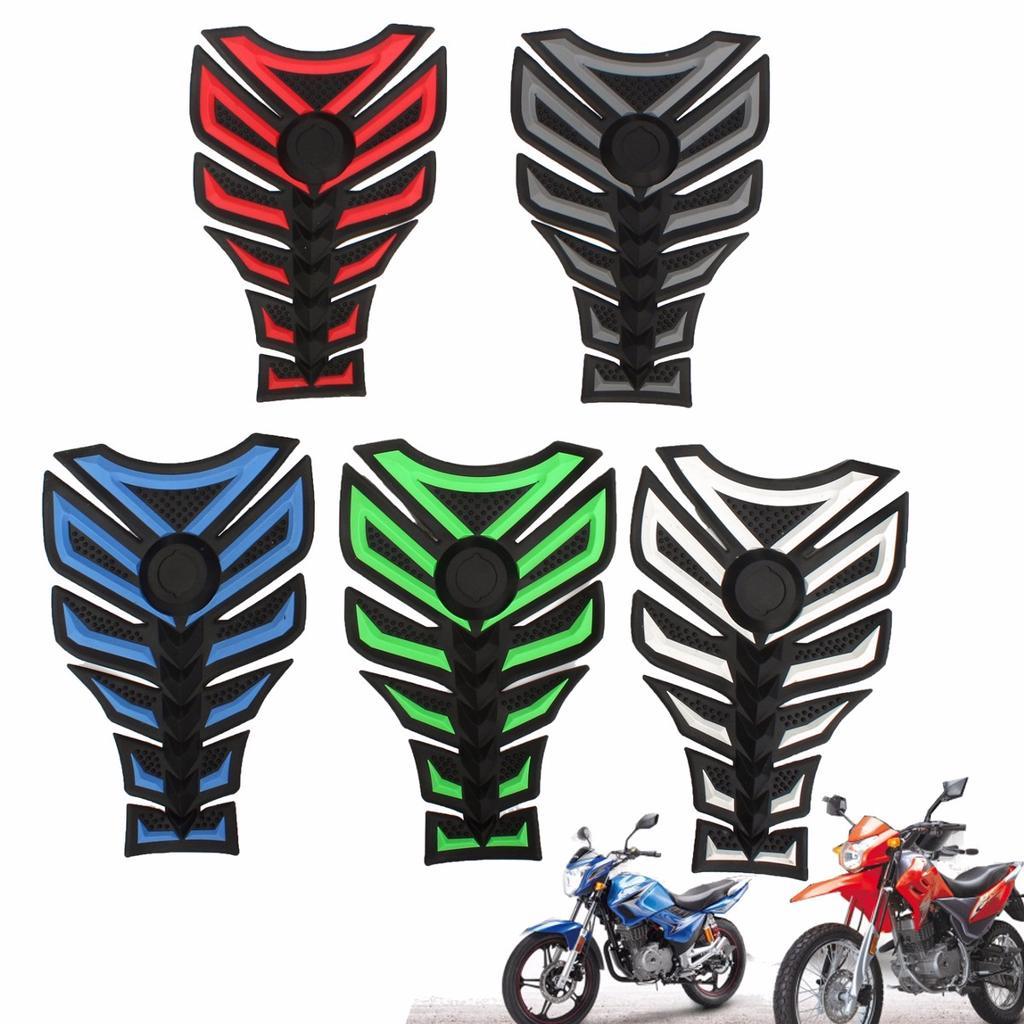 Motorcycle 3D Rubber Oil Tank Sticker Fuel Pad Gas Protector Fits Honda Suzuki