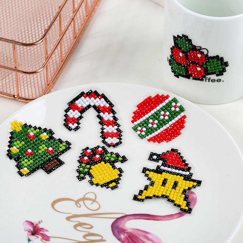 DIY patrones diamante diamante de bordado pintura engomada Navidad ...