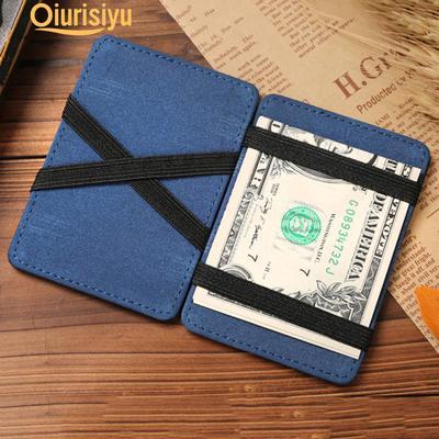 Carte de crédit ID Clips Portefeuille Argent Métal Support Argent Clip double face Holder