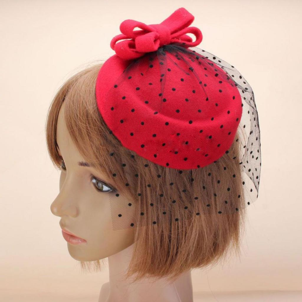 Details about  /Women Lady Handmade Mini Hat Fascinators Hair Clips Bowknot Lace Party Accessory