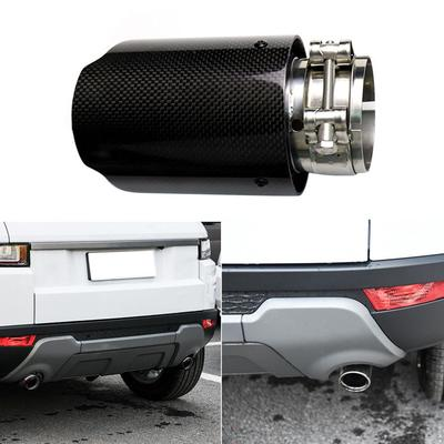 NEW Carbon Fiber Stainless Steel Auto Car Exhaust End Pipes For 101 mm Outlet