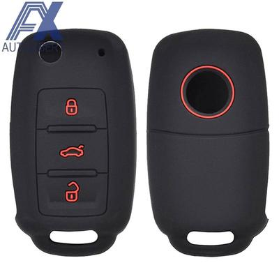 Replacement 3 Buttons Remote Key Fob Car Key Case Cover Styling for Hyundai IX35 i20 Blade Key Shell Silicone Pad