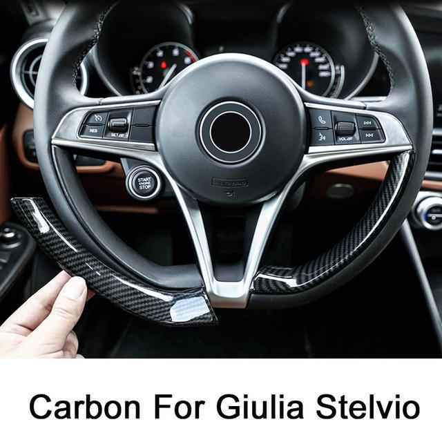 For Alfa Romeo Giulia 2017-2018 Carbon Fiber Dashboard Console Cover Trim ABS