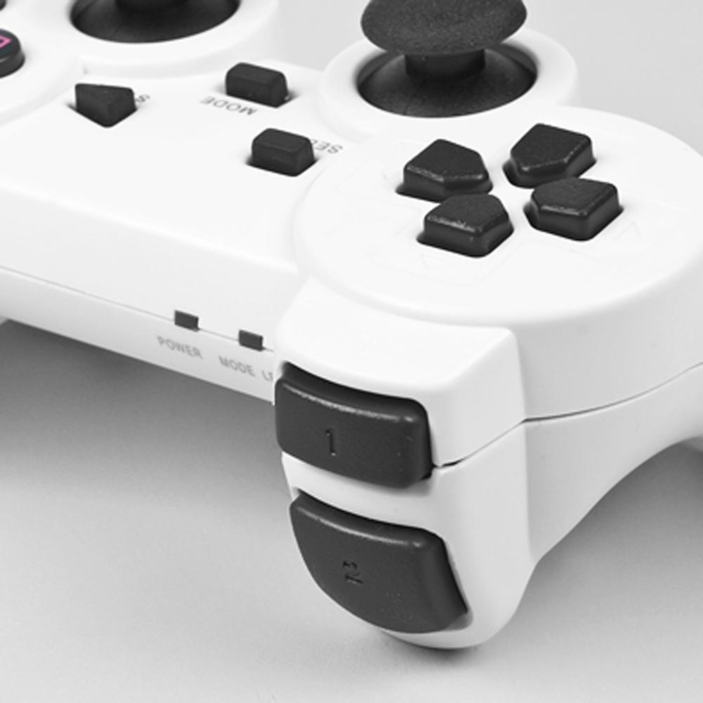 Modern Design Wireless 2.4GHz White Vibration Shock PS2 Game ...